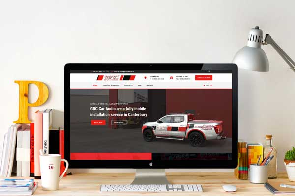 GRC Car Audio Web Design