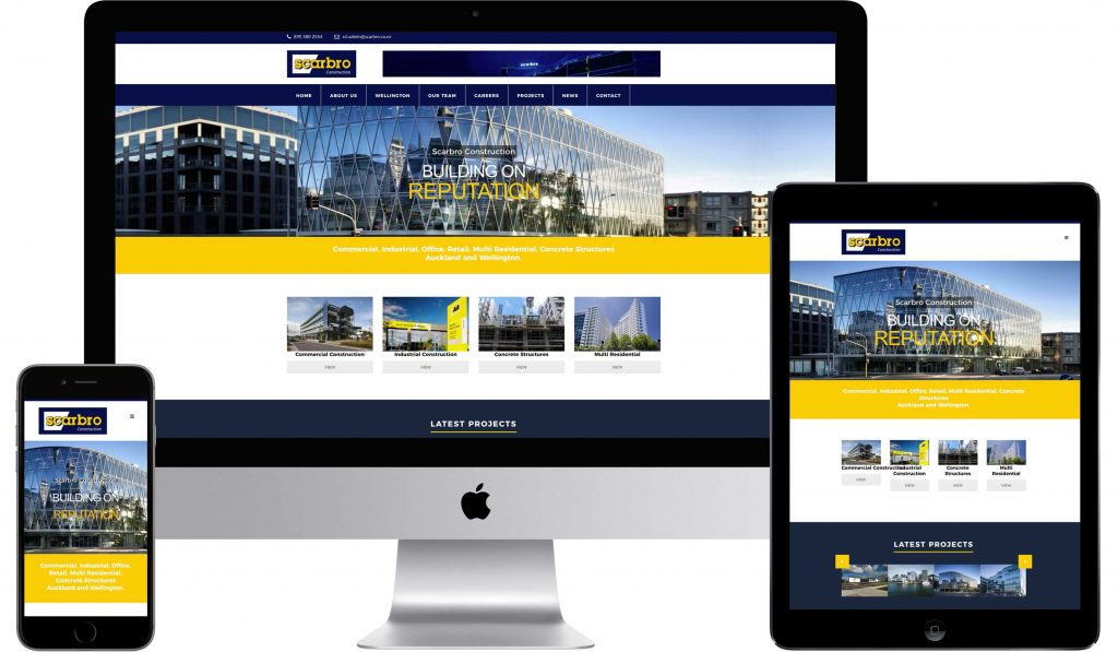Scrbro Construction Web Design